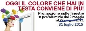 Promozione sulle finestre pvc/alluminio Internorm